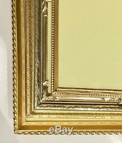 11/Set VTG Ornate Embossed Gold Metal Brass Picture Frame Bifold Oval Footed Lot