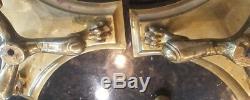 19th Century Rare Victorian Brass Candelabra Set