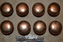 4 Sets Of Brass Door Knobs Vintage 1 3/4 # 32