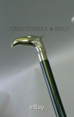 5 noble wooden walking sticks silver knob HANDMADE hiking stick set collect
