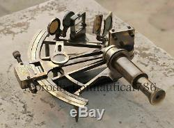 8'' Working Nautical Maritime Brass Big Sextant Antiques Marine Captain Set of 2