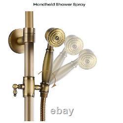 8-inch Rainfall Shower Head Sets Wall Mounted Mixer Bathroom Shower Combo Set