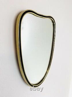 Amazing matching set original 50s mirror and wall shelf formica atomic