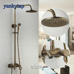 Antique Brass 8 Bathroom Shower Set Bathtub Sink Mixer Taps Faucet set