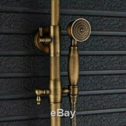Antique Brass Bathroom Outdoor Wall Mounted Bathtub Shower Faucet Set with Hand