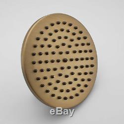 Antique Brass Bathroom Rainfall Shower Head&Hand Held Spray Tub Mixer Faucet Set