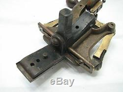 Antique Brass & Cast Iron E. E. Cunningham Bandsaw Set Tool Band Saw 1873 Pat