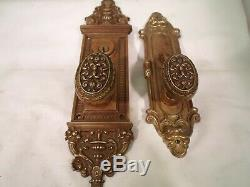 Antique Brass Cylinder Entrance Door Knob Set Oval Knobs Thumb Turn with key#773