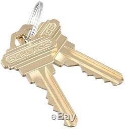 Antique Brass Handle Set Exterior Front Door Knob Lever Entry Lock Security Home