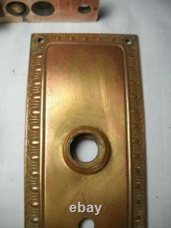 Antique Brass Mortise Lock Set with Door Knobs
