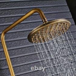 Antique Brass Rainfall Shower Mixer Taps Shower System Set Bathtub Shower Taps