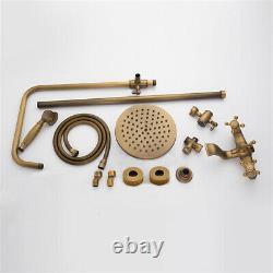 Antique Brass Shower Faucet 8 Vintage Shower Fixture Set Mixer Handheld Spray