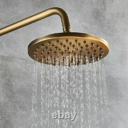 Antique Brass Shower tap Rainfall Shower Head Handheld Shower System Set Mixer