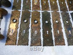 Antique Corbin Roanoke Solid Brass Door Hardware 4 PC Set 38 C
