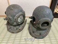 Antique Divers Diving Helmet From Japan Vintage 2set #0148