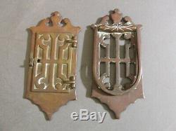 Antique Imperial 1035 Brass Speakeasy Door Knock & Peep Hatch Hole Set