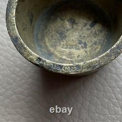 Antique Nesting Weights Brass Set 5 Crown Stamped French Circa 1795 Apothecary