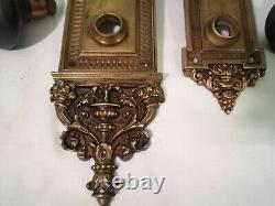 Antique R&E'Bramante' Cast Brass Cylinder Entrance Railroad Door Knob Set #813
