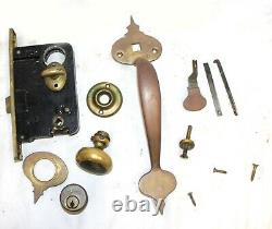 Antique Russwin Door Lever Hardware Set Decorative Latch Door Knob Deadbolt