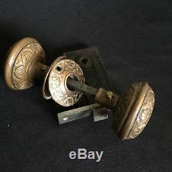 Antique Set Of Victorian Hopkin & Dickinson Vernacular Solid Brass Door Knobs