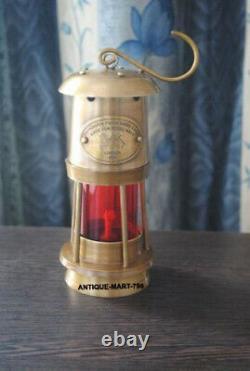 Antique Set of 3 Miner Lamp Nautical Ship Lantern Oil Lamp Maritime Boat Lamp