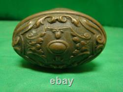 Antique Stunning Brass Victorian Front Entry Door Knob Set Inside & Out Jhy