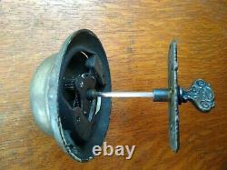 Antique Victorian Ornate Mechanical Doorbell & Fancy Turn Twist Set c1885