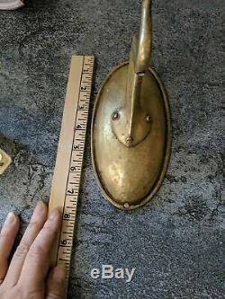 Antique Victorian Wall Plate Hanging Light Set Of 2 Brass Lantern Hooks