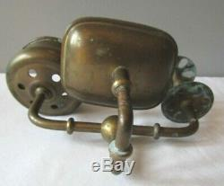Antique/Vintage Brass Soap Toothbrush Cup Holder Set Combo Wall Mount Victorian