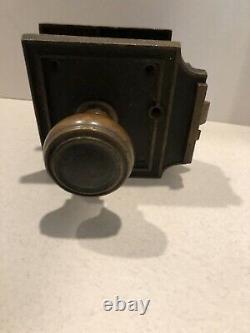 Antique Vintage Corbin Entry Door Knob & Lock Set No Key Brass Bronze