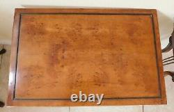 Antique/Vtg Set Solid Mahogany Wood & Brass Harp Lyre Nesting Tables For REPAIR