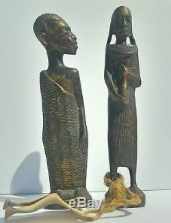 Antique Yoruba Land Collection Solid Brass Male And Female Set With Tag Misprint