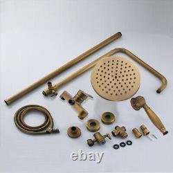 Bathroom Shower Set Mixer Taps Shower Headheld Shower Spray System Brass Antique