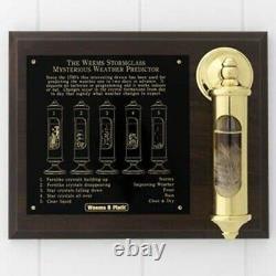 Brass Stormglass & Plaque Set (Weems & Plath 200SET)