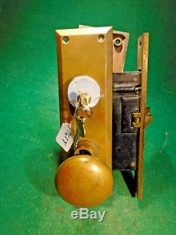 CORBIN #1339 1/4 LH ENTRY MORTISE LOCK withEVERYTHING COMPLETE SET (7628)