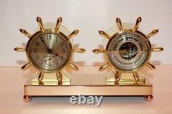 Chelsea Fulton Desk Clock & Barometer Set Circa 1929