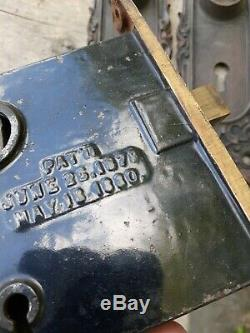 Devil lion face Vintage Antique brass Door Lock Set Knobs KEY Hardwear