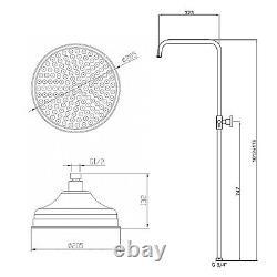 ENKI SH0155 Thermostatic Shower Set Rainshower 200mm Antique Bronze TRAFALGAR