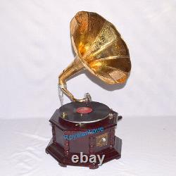 HMV Antique Gramophone Phonograph Brass Horn Look WORKING SOUND BOX NEEDLE SET