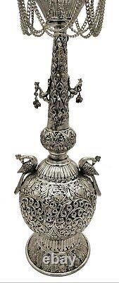 Hookah Indian Brass Engraved Vintage folding Hukka Set Pipes Antique Finished