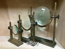 INTERLUDE HOME WILLET BRASS DESKTOP MAGNIFYING GLASS SET. See Details Below
