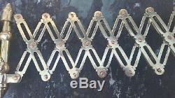 Industrial Scissor Lamp Brass Wall Mount Lamp Adjustable Set of 2