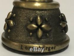 Longaberger Pewter & Antique Brass Chess Set Signed Woven Traditions Fathers Day