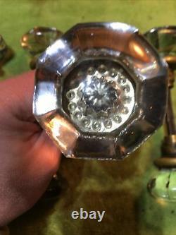 Lot Of 5 Large Vintage GLASS DOOR Knob Sets