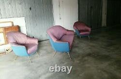 Mid century set Pair Lounge chairs & sofa Veronesi Gio Ponti italy 1950s