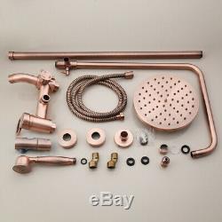 New Luxury 8 Antique Copper Bathroom Shower Head Set Tub Sink Faucet Mixer Taps