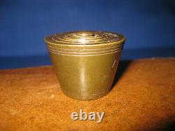 Original Antique Victorian 6 Brass TROY Ounce Nesting Weight Complete Set