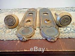 Pueblo Colorado Antique Emblematic Brass Door Knob Set Pueblo County Court House