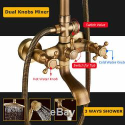Rainfall Shower Set System Antique Shower Mixers with Handshower Tub Tap Spout