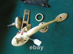 Rare Sargent #6761 Entry Mortise Lock Complete Set & Fully Restored (12258-2)